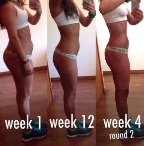 week 1- week 12 - week 16 side